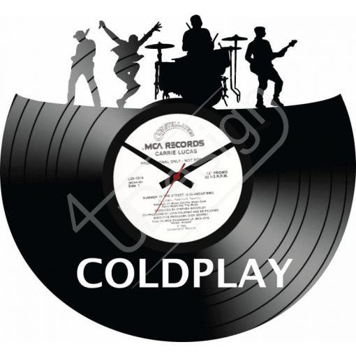 Coldplay hanglemez óra - bakelit óra