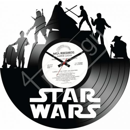 Star Wars hanglemez óra - bakelit óra