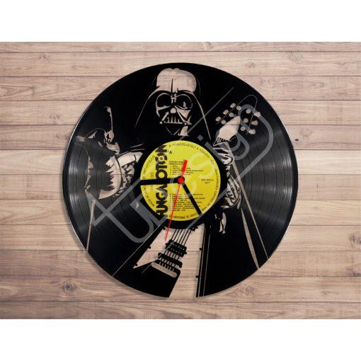 Darth Vader gitárral hanglemez óra - bakelit óra