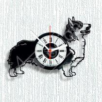 Corgi kutyás hanglemez óra