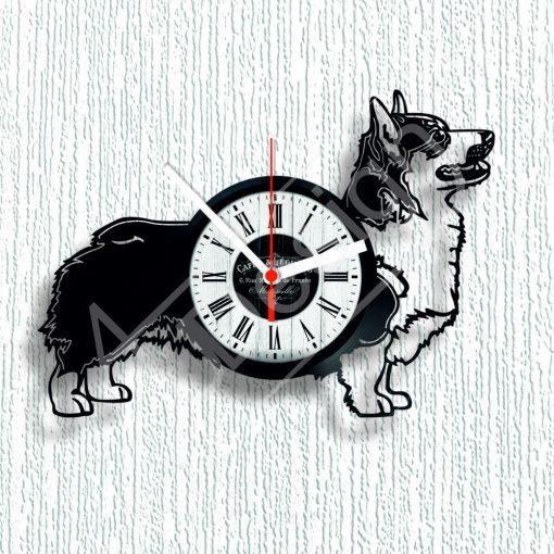 Corgi kutyás hanglemez óra - bakelit óra