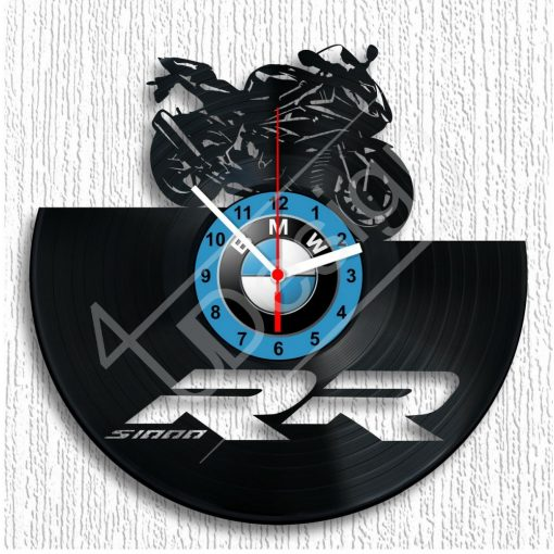BMW RR motor hanglemez óra - bakelit óra