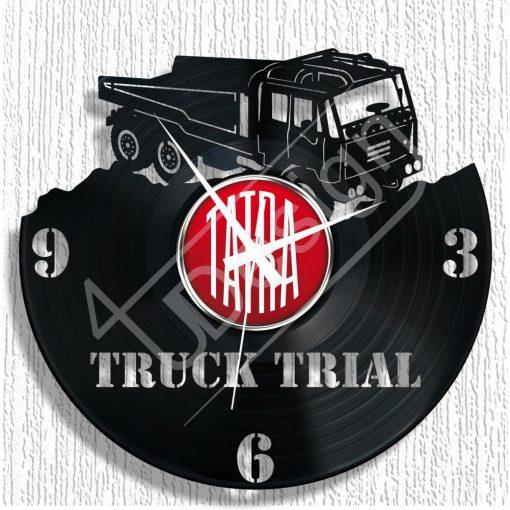 TATRA kamion hanglemez óra - bakelit óra