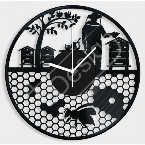 Méhész hanglemez óra - bakelit óra