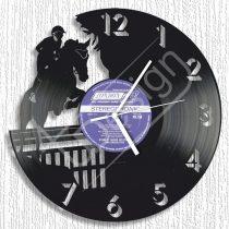 Ugrató lovas hanglemez óra