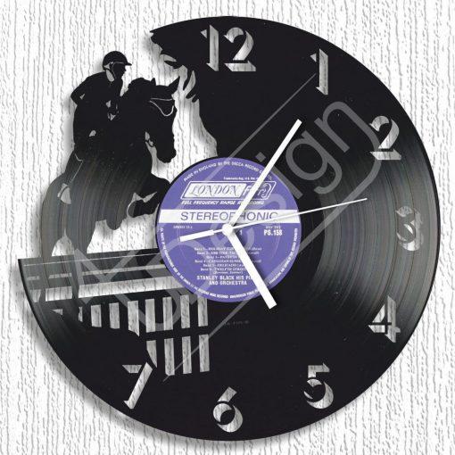 Ugrató lovas hanglemez óra - bakelit óra