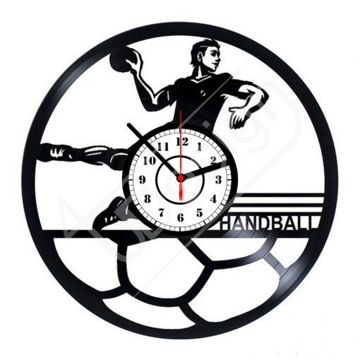 Kézilabdás hanglemez óra - bakelit óra