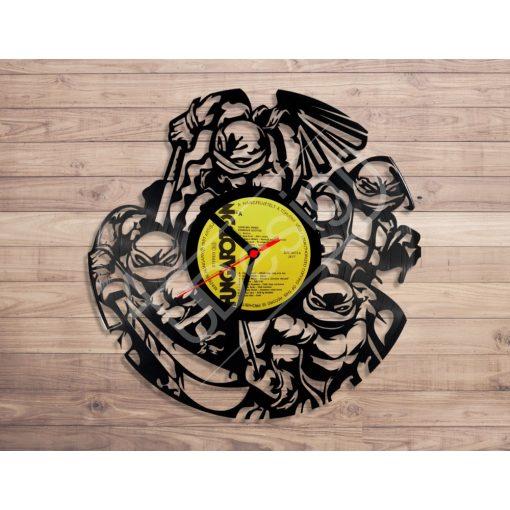 Tini nindzsa teknősök hanglemez óra - bakelit óra