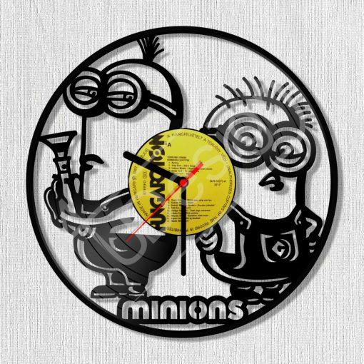 Minions - Minyonok hanglemez óra - bakelit óra
