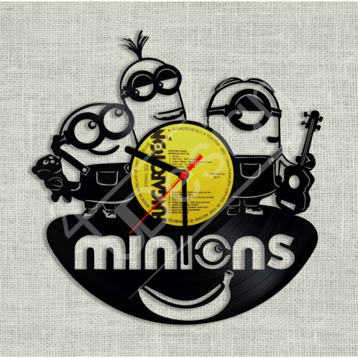 RK - Minions - Minyonok hanglemez óra - bakelit óra