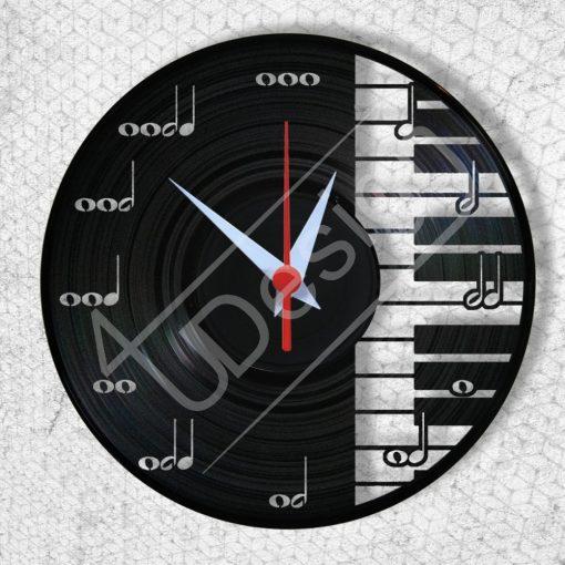 Zongora hanglemez óra - bakelit óra