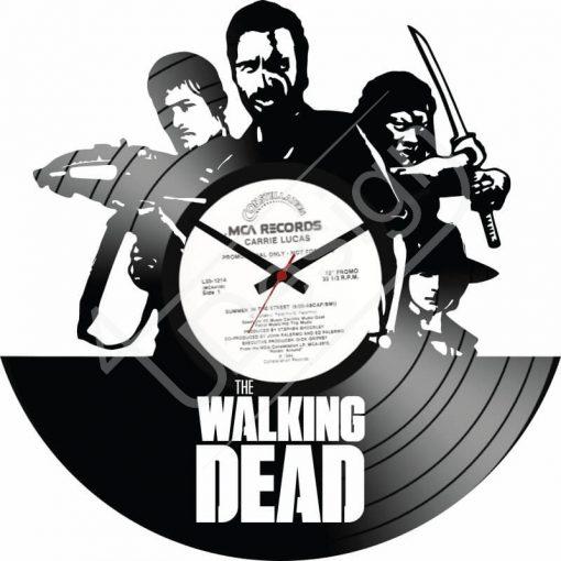 Walking Dead hanglemez óra - bakelit óra