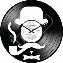 Kalap bajusz hanglemez óra