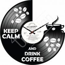 Coffee hanglemez óra