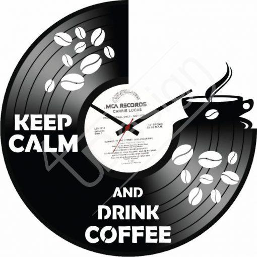 Coffee hanglemez óra - bakelit óra