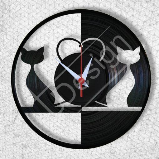 Cicák hanglemez óra - bakelit óra