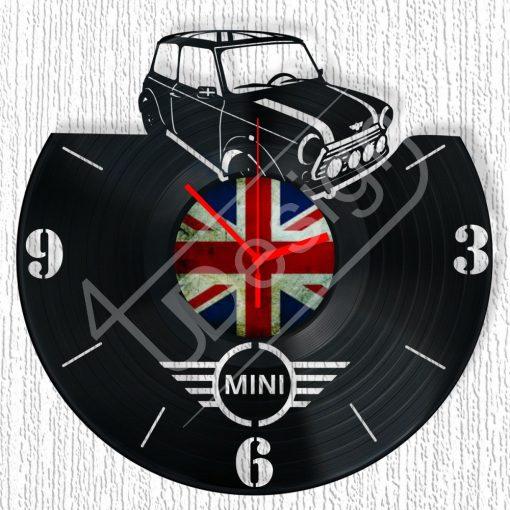 Austin Mini hanglemez óra - bakelit óra