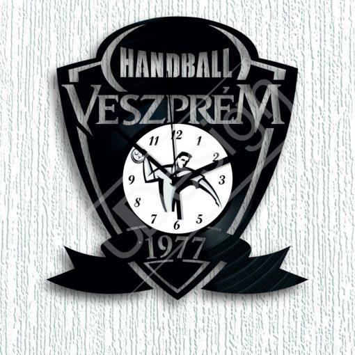 Kézilabdás Veszprém handball hanglemez óra - bakelit óra