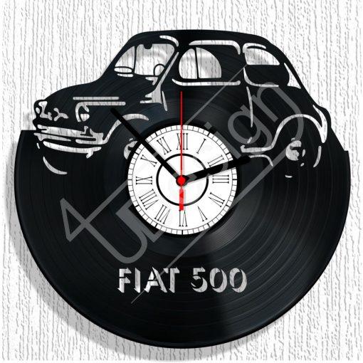 Fiat 500 hanglemez óra - bakelit óra