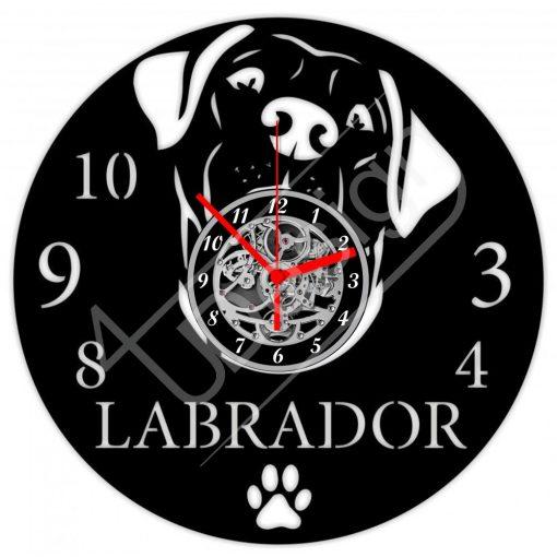 Labrador hanglemez óra - bakelit óra