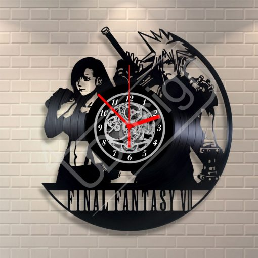 Final Fantasy VII hanglemez óra - bakelit óra