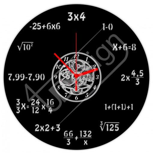 Matematika, matek hanglemez óra - bakelit óra