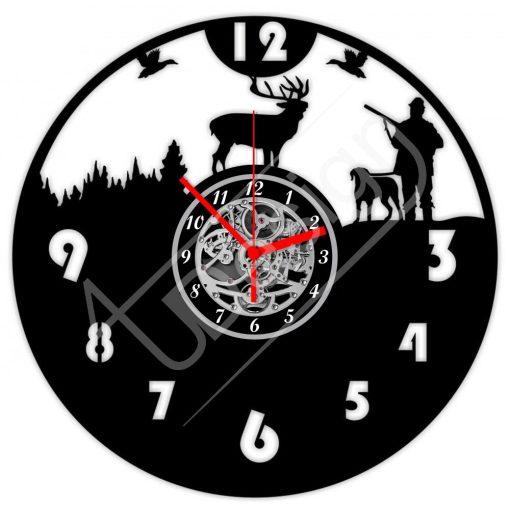 Vadászos hanglemez óra - bakelit óra