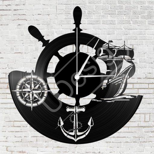 Hajós hanglemez óra - bakelit óra