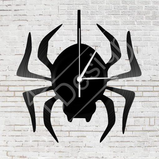 Pókos  hanglemez óra - bakelit óra
