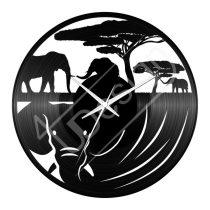 Elefántos bakelit hanglemez óra