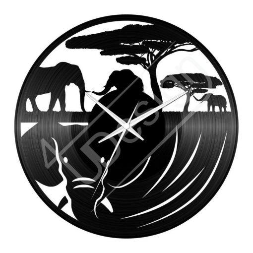Elefántos hanglemez óra - bakelit óra