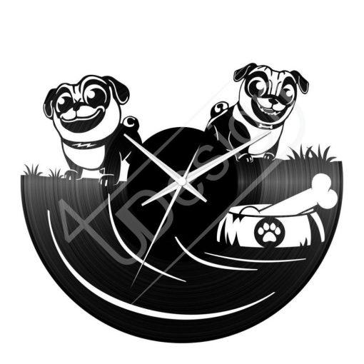 Kutyák hanglemez óra - bakelit óra