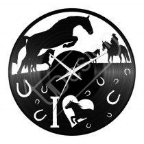 Lovas bakelit hanglemez óra