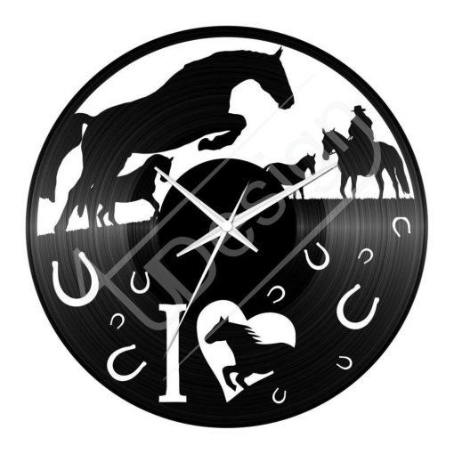 Lovas  hanglemez óra - bakelit óra