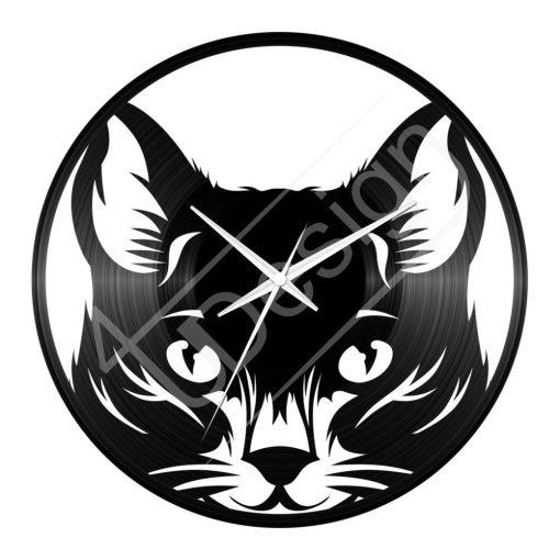 Bakelit óra Macskás bakelit hanglemez óra