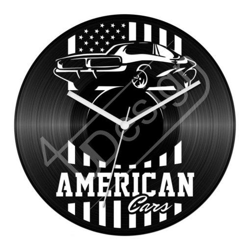 Amerikai autós hanglemez óra - bakelit óra