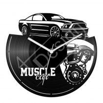 Muscle Car izomautós autós hanglemez óra
