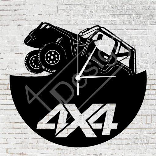 RK - Off-road 4x4 hanglemez óra - bakelit óra
