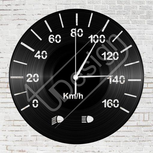 Km óra hanglemez óra - bakelit óra