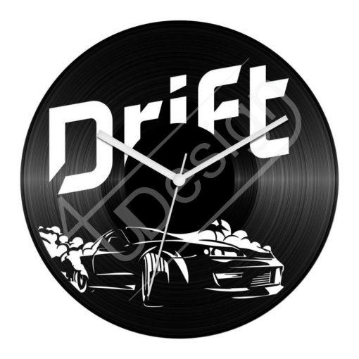 Drift hanglemez óra - bakelit óra