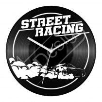 Street Racing hanglemez óra