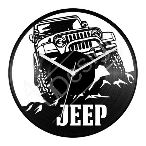 Bakelit óra Jeep 4x4 Off-Road hanglemez óra