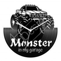 Monster Truck hanglemez óra
