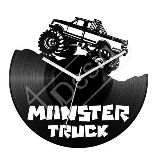 Bakelit óra Monster Truck hanglemez óra