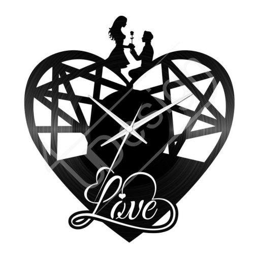 Love szív hanglemez óra - OR9042506VI - bakelit óra