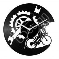 Kerékpáros hanglemez óra
