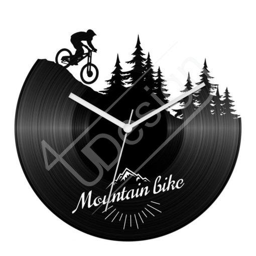 Mountain bike hanglemez óra - bakelit óra