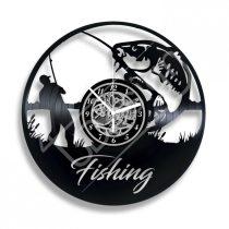 Fishing hanglemez óra saját felirattal