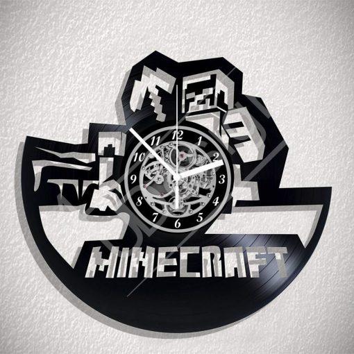 Minecraft hanglemez óra - bakelit óra