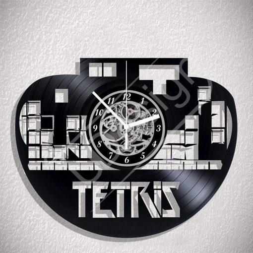 Tetris hanglemez óra - bakelit óra